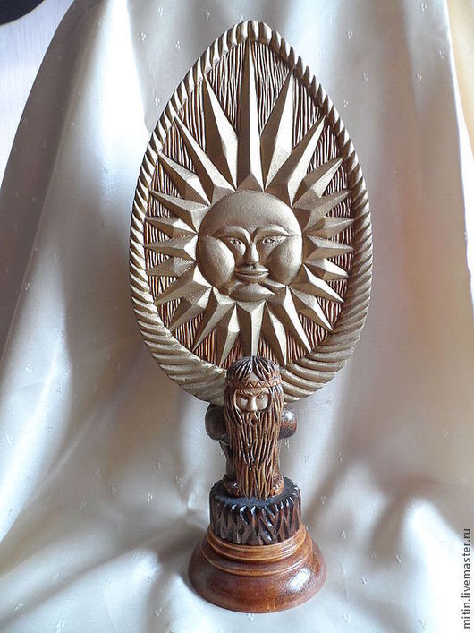 """Яйца ручной работы. Ярмарка Мастеров - ручная работа. Купить Яйцо """"Солнце"""". Handmade. Золотой, старец, пасхальный сувенир, дерево"""