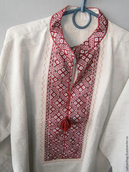 Для мужчин, ручной работы. Ярмарка Мастеров - ручная работа. Купить Рубаха-вышиванка из льна Козак 54-56р.ручная работа. Handmade.