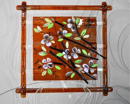 """Картины цветов ручной работы. Ярмарка Мастеров - ручная работа. Купить Панно """"сакура"""". Handmade. Панно на стену, сакура, япония"""