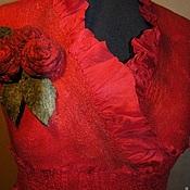 Одежда ручной работы. Ярмарка Мастеров - ручная работа Платье Красное-черное. Handmade.