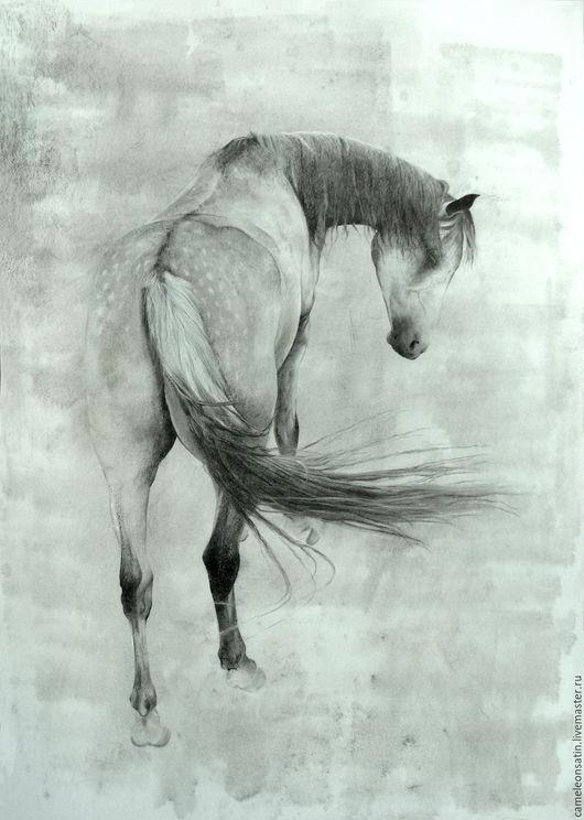 Животные ручной работы. Ярмарка Мастеров - ручная работа. Купить Moonlight. Handmade. Лошадь, конь, ambient, existential, гармоничный, монохромный