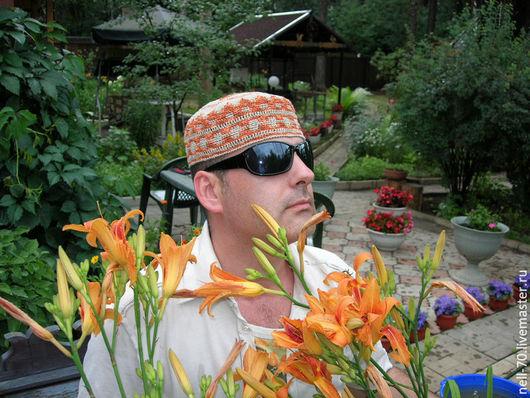 """Для мужчин, ручной работы. Ярмарка Мастеров - ручная работа. Купить Шапка  """"Султан 23"""". Handmade. Комбинированный, шапка мужская"""