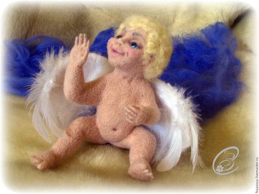 Коллекционные куклы ручной работы. Ярмарка Мастеров - ручная работа. Купить Ангел-хранитель, валяный из шерсти. Handmade. Комбинированный