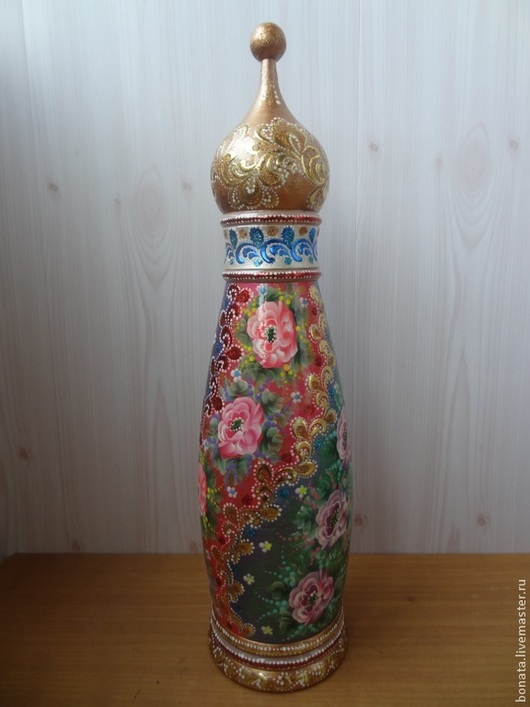 """Подарочное оформление бутылок ручной работы. Ярмарка Мастеров - ручная работа. Купить Футляр под бутылку """" Церковь"""". Handmade."""