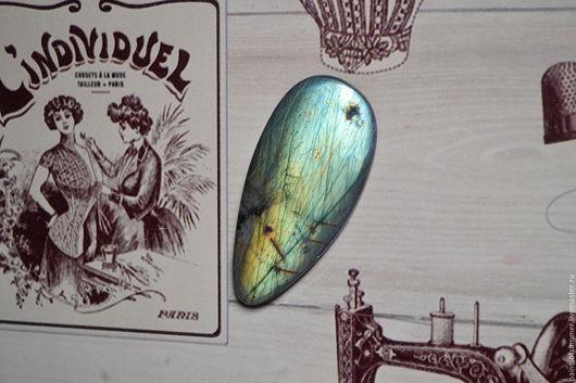 Для украшений ручной работы. Ярмарка Мастеров - ручная работа. Купить Лабрадорит спектролит. Кабошон 55 Х 25 Х 4,5. Handmade.