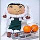 Коллекционные куклы ручной работы. Ярмарка Мастеров - ручная работа. Купить Девочка на санках. Ароматизированная Интерьерная Игрушка. Handmade. Коричневый