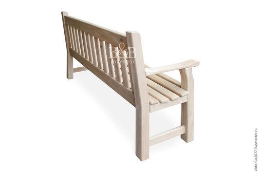 Экстерьер и дача ручной работы. Ярмарка Мастеров - ручная работа. Купить Английская скамейка. Handmade. Дуб, мебель массив, дача