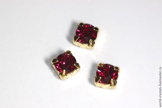 Кристаллы № 501 RUBY. Ювелирные касты под золото.