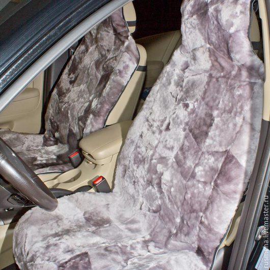 Автомобильные ручной работы. Ярмарка Мастеров - ручная работа. Купить Меховые накидки на сидения автомобиля Код: 105. Handmade. Серый