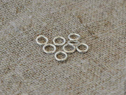 Для украшений ручной работы. Ярмарка Мастеров - ручная работа. Купить Кольцо закрытое серебро 925, 4мм. Handmade.