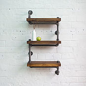 Для дома и интерьера handmade. Livemaster - original item Wall shelf made of solid pine