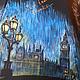 """Зонты ручной работы. Заказать """"Шерлок BBC"""" зонт с рисунком ручная роспись по мотивам сериала. Батик Роспись Шелковые штучки. Ярмарка Мастеров."""
