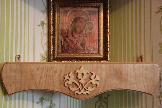 Мебель ручной работы. Ярмарка Мастеров - ручная работа. Купить Иконная полочка № 1. Handmade. Коричневый