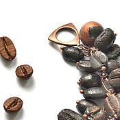 Украшения handmade. Livemaster - original item Bracelet made of copper-plated coffee bean Mocha. Handmade.