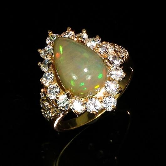"""Кольца ручной работы. Ярмарка Мастеров - ручная работа. Купить """" Принцесса Монако"""" кольцо с опалом. Handmade. Опал"""
