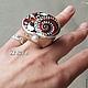 """Кольца ручной работы. Ярмарка Мастеров - ручная работа. Купить Кольцо """"Остров Мечты"""". Handmade. Разноцветный, кольцо"""