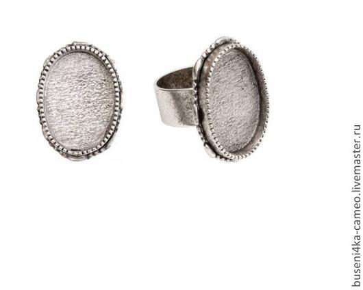 Для украшений ручной работы. Ярмарка Мастеров - ручная работа. Купить Основа для кольца Винтаж 18х25мм, ND античное серебро (1шт). Handmade.