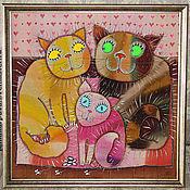 """Картины и панно ручной работы. Ярмарка Мастеров - ручная работа Панно """"Семья"""". Handmade."""