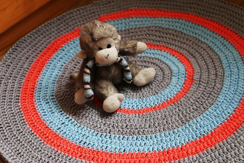 Вязание крючком круглого коврика для прихожей мастер класс фото
