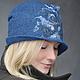 """Шляпы ручной работы. Шляпка """"Blue River"""". Shellen's HATS. Интернет-магазин Ярмарка Мастеров. Шляпка, джинс, тёмно-синий"""