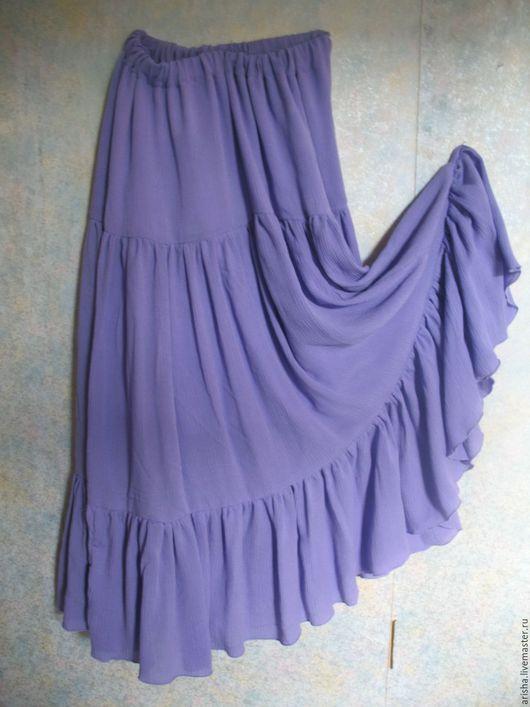 Юбки ручной работы. Ярмарка Мастеров - ручная работа. Купить Сиреневая юбка  из  марлевки. Handmade. Одежда, Юбка объемная