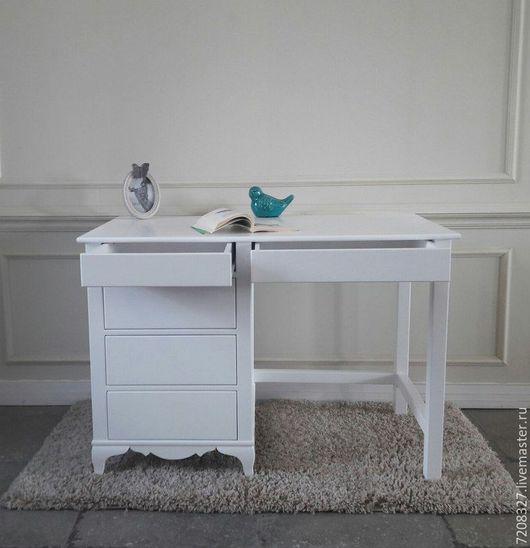 Мебель ручной работы. Ярмарка Мастеров - ручная работа. Купить Стол письменный белый с тумбой. Handmade. Белый, 1 сентября