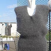 Одежда ручной работы. Ярмарка Мастеров - ручная работа жилетка  женская пуховая. Handmade.