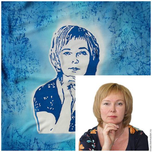 Портрет по фото на шелке от Надежды Ненаховой
