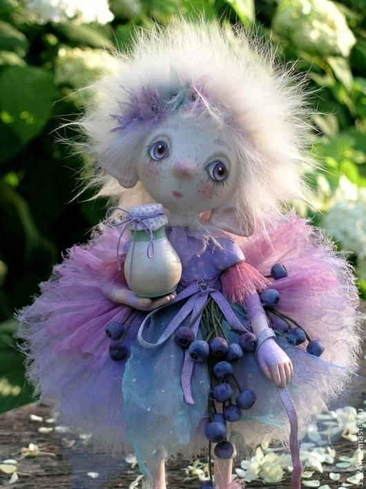 Коллекционные куклы ручной работы. Ярмарка Мастеров - ручная работа. Купить кукла Черника со сливками и компания полимерная глина. Handmade.
