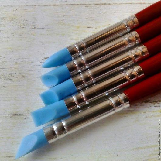 Другие виды рукоделия ручной работы. Ярмарка Мастеров - ручная работа. Купить Кисти силиконовые (5 штук) стеки- лепка ,декор. Handmade.