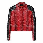 Одежда handmade. Livemaster - original item The jacket of Python skin RENDEZVOUS. Handmade.