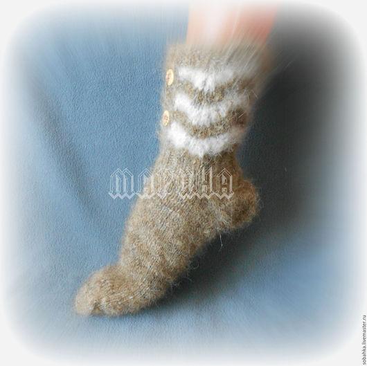 Носки, Чулки ручной работы. Ярмарка Мастеров - ручная работа. Купить НОСКИ сапожки собачий пух. Handmade. Бежевый