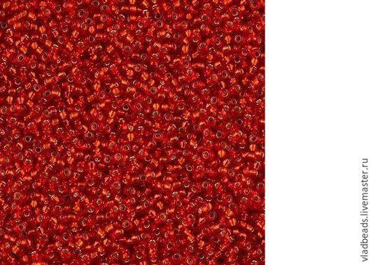 Для украшений ручной работы. Ярмарка Мастеров - ручная работа. Купить Бисер круглый Miyuki 15/0 0010 Flame Red Silver Lined. Handmade.