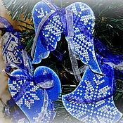 """Подарки к праздникам ручной работы. Ярмарка Мастеров - ручная работа Набор новогодних подвесок """"Изумруд"""". Handmade."""