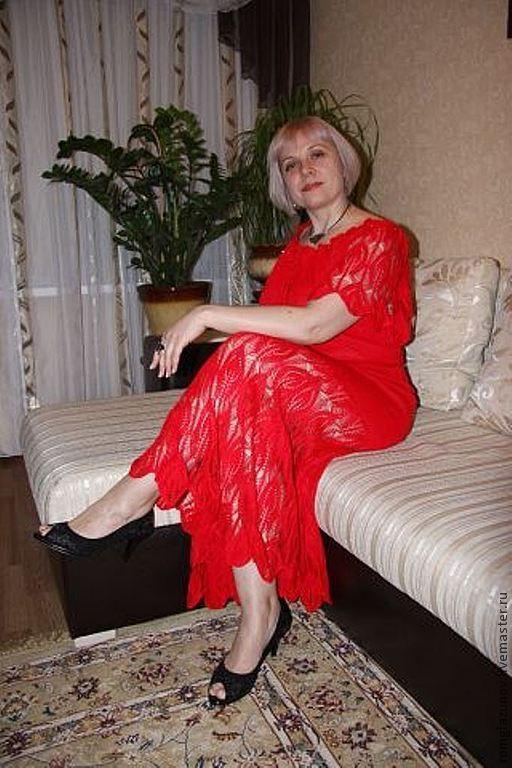 Платья ручной работы. Ярмарка Мастеров - ручная работа. Купить вязаное платье-сарафан. Handmade. Вязаное платье, акрил