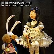 Куклы и игрушки ручной работы. Ярмарка Мастеров - ручная работа Alisa & White Rabbit / Алиса и Белый Кролик. Handmade.