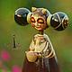 Коллекционные куклы ручной работы. Капелька.Авторская кукла из дерева.. DryadStyle. Интернет-магазин Ярмарка Мастеров. Авторская кукла, дерево