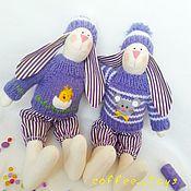 Куклы и игрушки ручной работы. Ярмарка Мастеров - ручная работа Зайчики тидьда. Handmade.