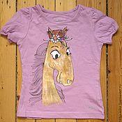 Одежда ручной работы. Ярмарка Мастеров - ручная работа Глупая лошадь. футболка для детей. ностальгия по детской книжке... Handmade.
