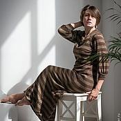 """Одежда ручной работы. Ярмарка Мастеров - ручная работа Длинное  платье """"Шоколад"""". Handmade."""