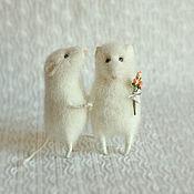 """Куклы и игрушки ручной работы. Ярмарка Мастеров - ручная работа """"Свадебные мышки"""".. Handmade."""