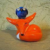 Куклы и игрушки ручной работы. Ярмарка Мастеров - ручная работа Лисенок и сова - мистический союз. Handmade.