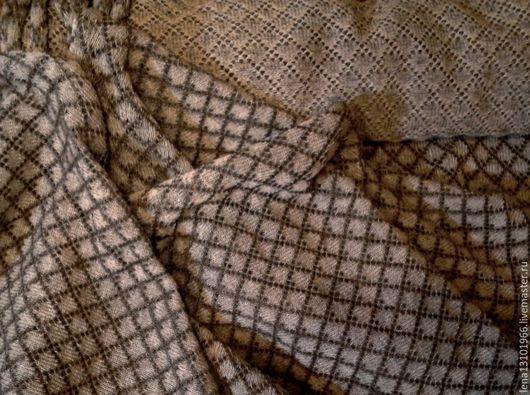 """Шитье ручной работы. Ярмарка Мастеров - ручная работа. Купить Ткань  из 100% льняной пряжи """"Клетка"""" машинной вязки. Handmade."""