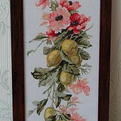 Картины и панно ручной работы. Ярмарка Мастеров - ручная работа Композиция с лимонами. Handmade.