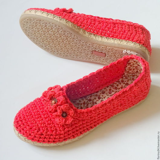 Обувь ручной работы. Ярмарка Мастеров - ручная работа. Купить Балетки уличные Маки. Handmade. Обувь ручной работы