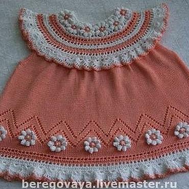 Работы для детей, ручной работы. Ярмарка Мастеров - ручная работа Платье для девочки Хризантема. Handmade.