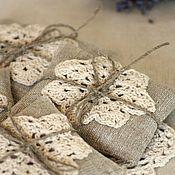Сувениры и подарки handmade. Livemaster - original item Aromatic sachets with herbs (flax sachets). Handmade.