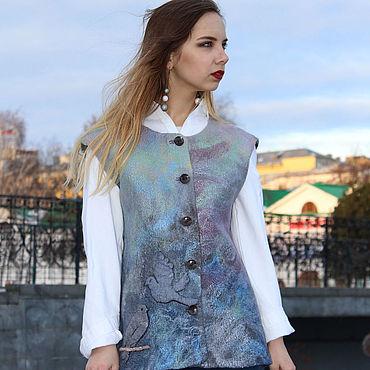 Clothing handmade. Livemaster - original item Felted vest Tell the birds... Handmade.