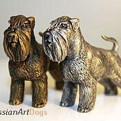 Для дома и интерьера ручной работы. Ярмарка Мастеров - ручная работа ШНАУЦЕР  - статуэтка (оловянная миниатюрная фигурка собаки). Handmade.