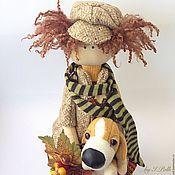 Куклы и игрушки ручной работы. Ярмарка Мастеров - ручная работа Жаклин и Жулиан Текстильная кукла с собачкой. Handmade.